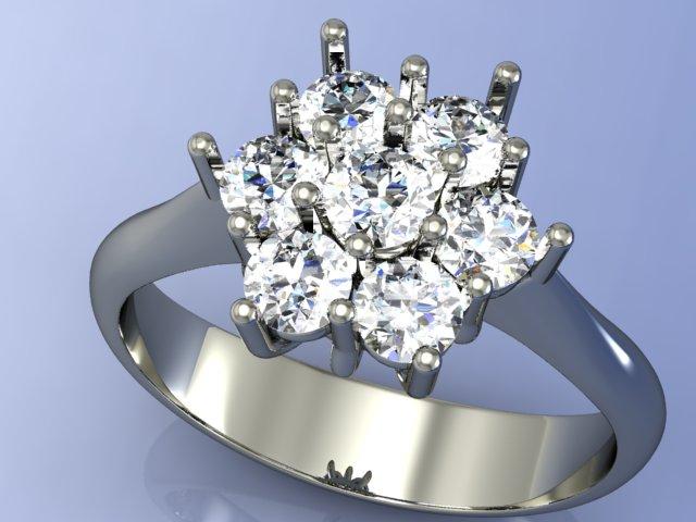 Cestino di diamanti in oro bianco 18kt.