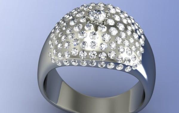 pave di diamanti in oro bianco 18kt.