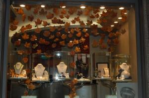 vetrina foglie d'autunno